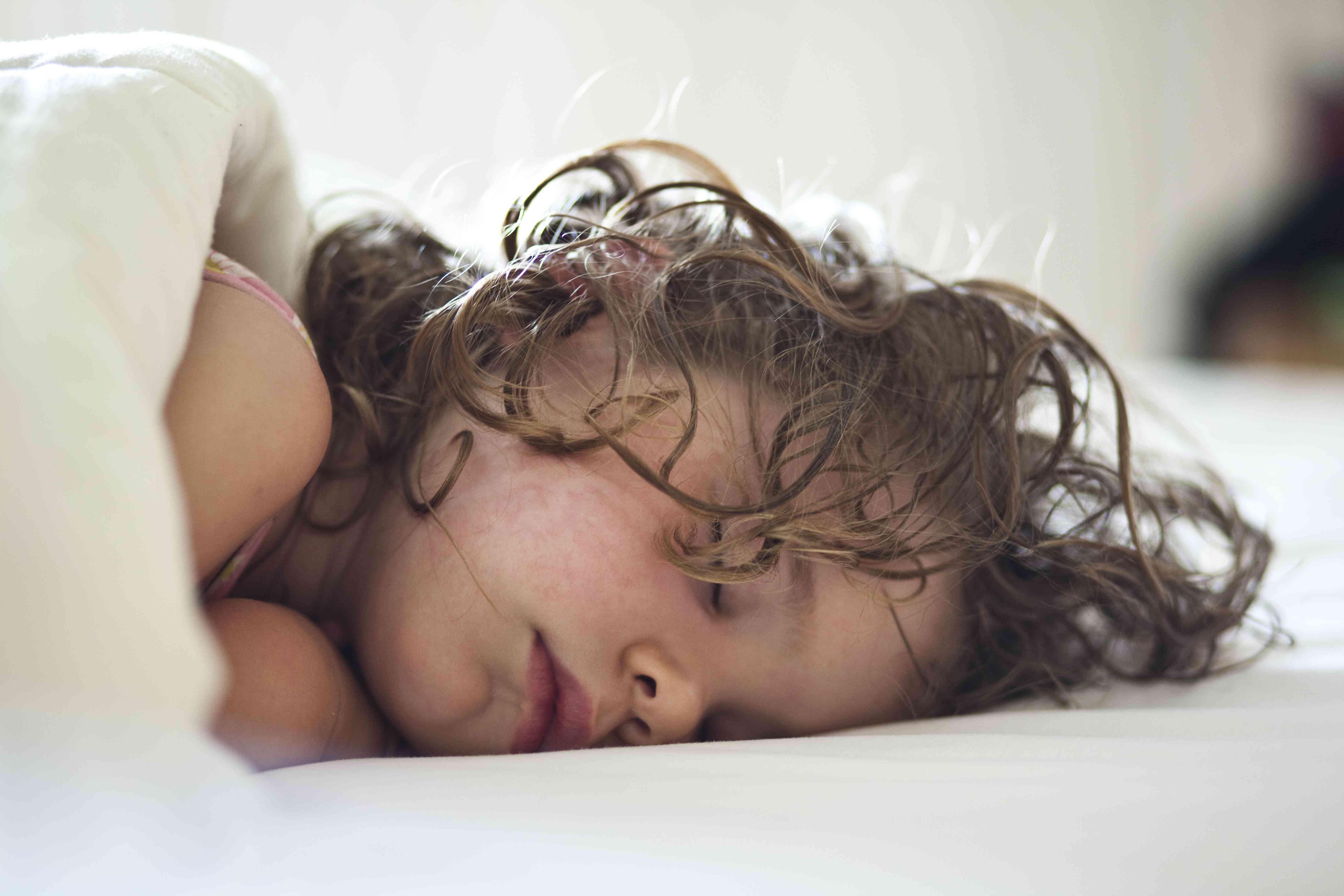 Young girl sleeping