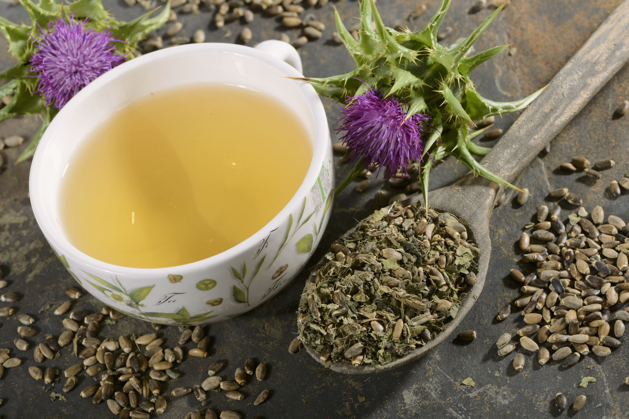 Milk thistle tea detox