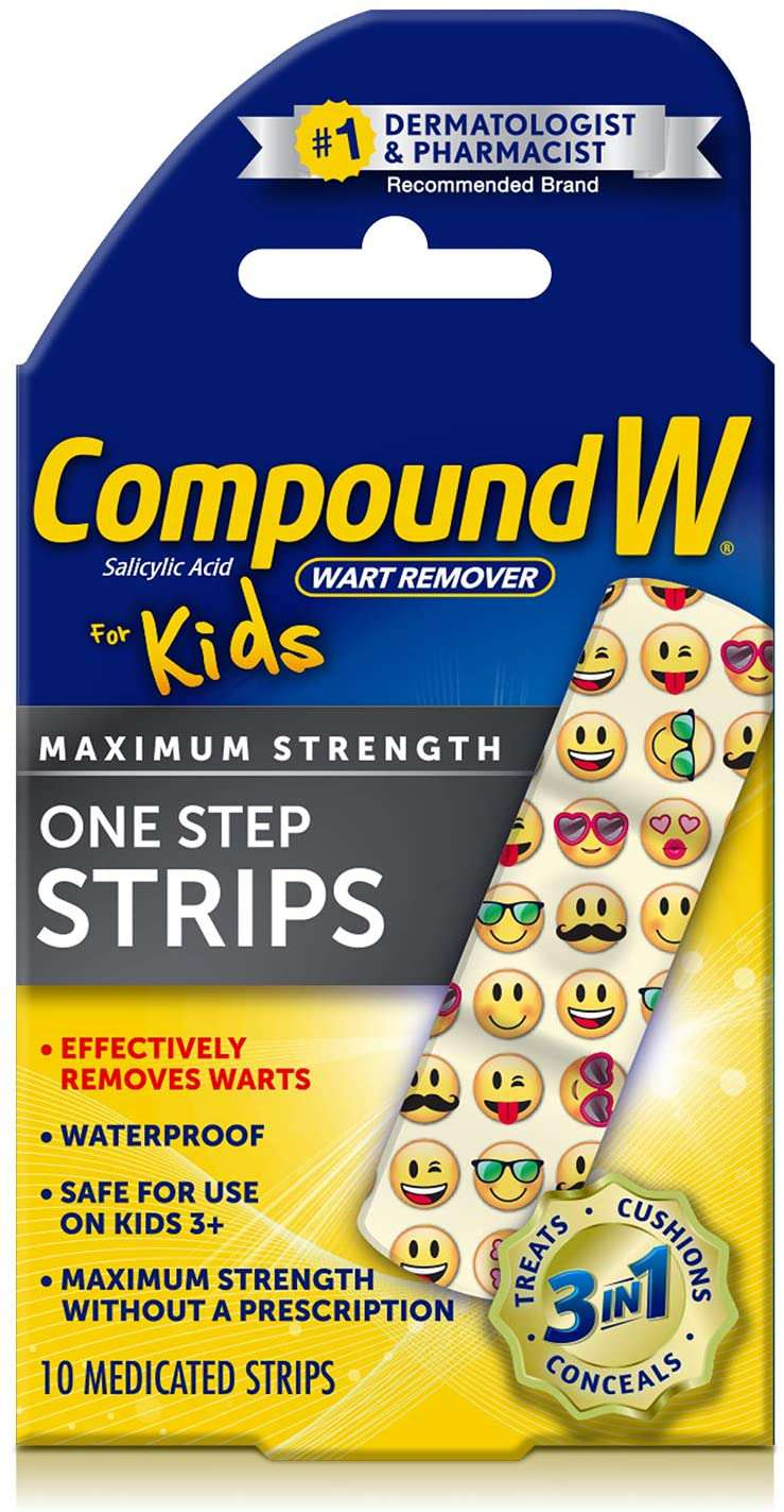 Compound W One Step Wart Remover Strips for Kids