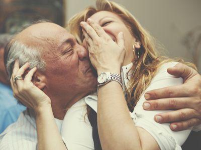 Portrait of a couple kissing