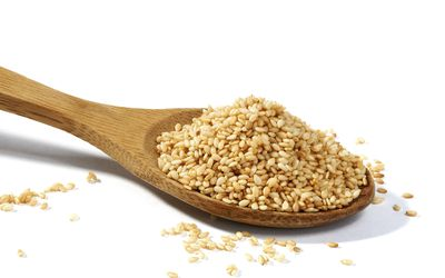 a spoonful of sesame seeds