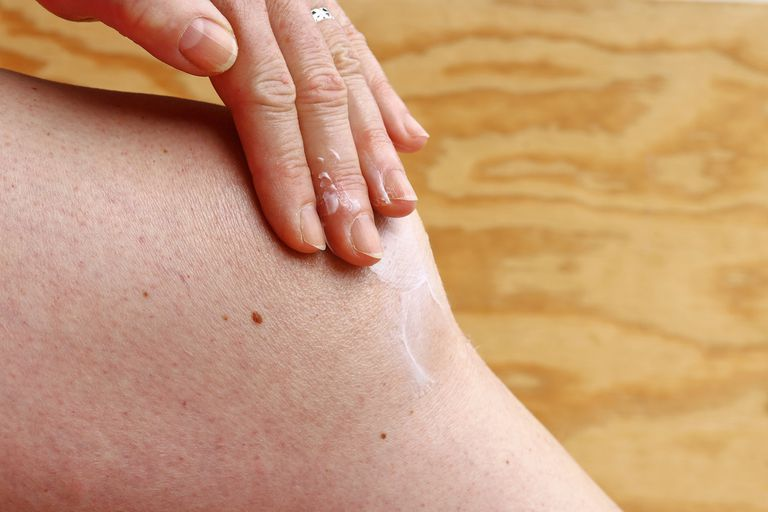 Ointment on knee
