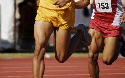 Photo of runner's quads.
