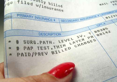 Charges on a medical bill