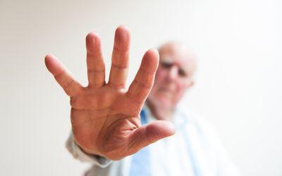 combative elderly person