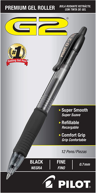 Pilot G-2 Retractable Gel Ink Rollerball Pen