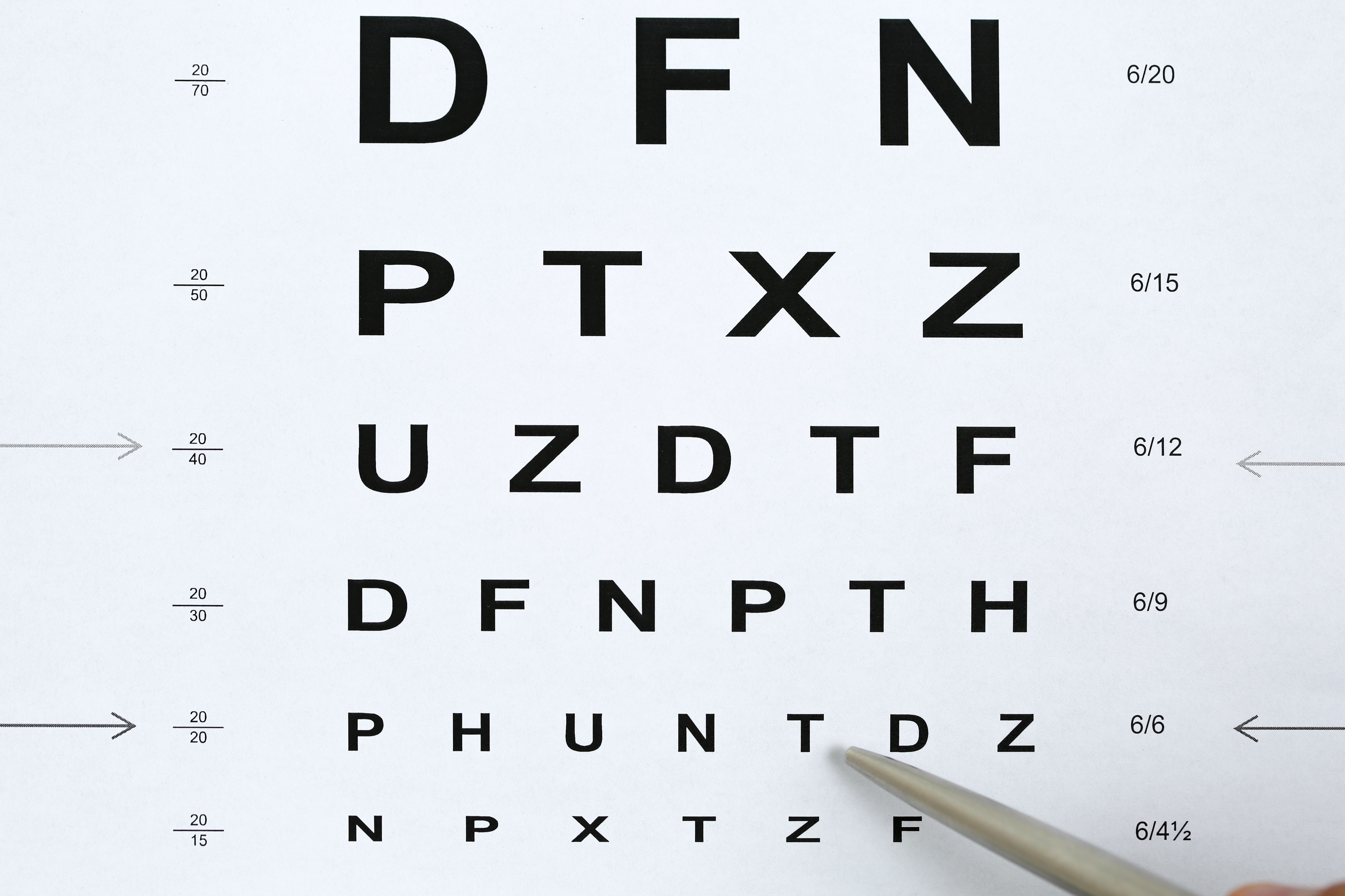 class 1 medical eye test example