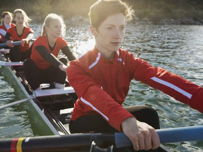 rowing team on the water