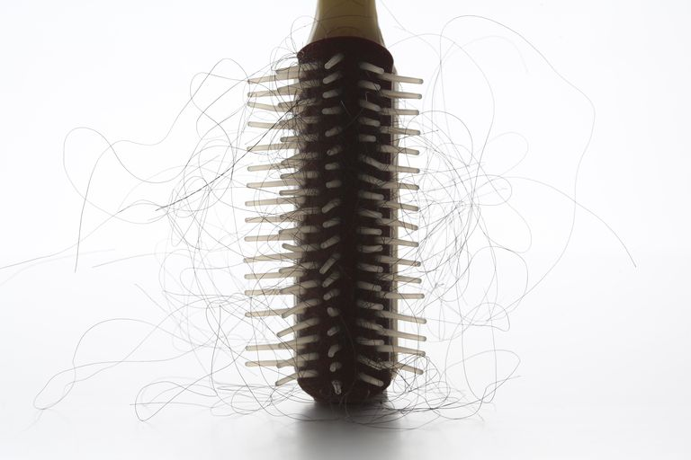 Hairbrush on white background