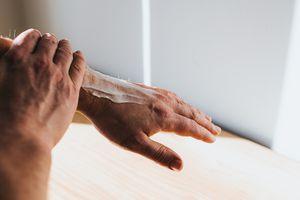 moisturizing hands