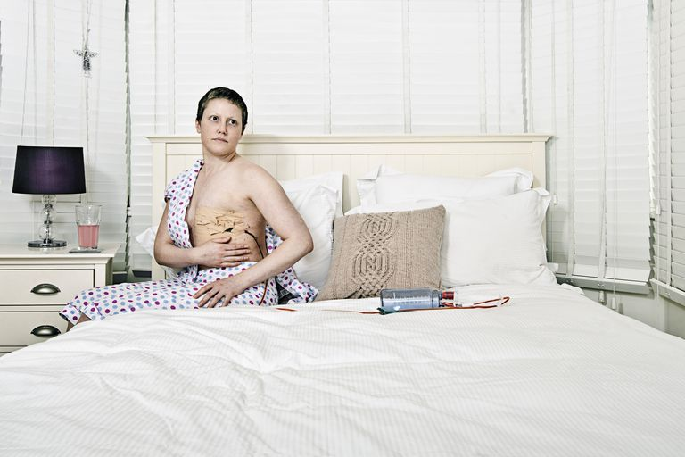 Woman seeing own Mastectomy for First Time