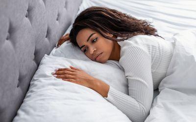 Lying in bed awake