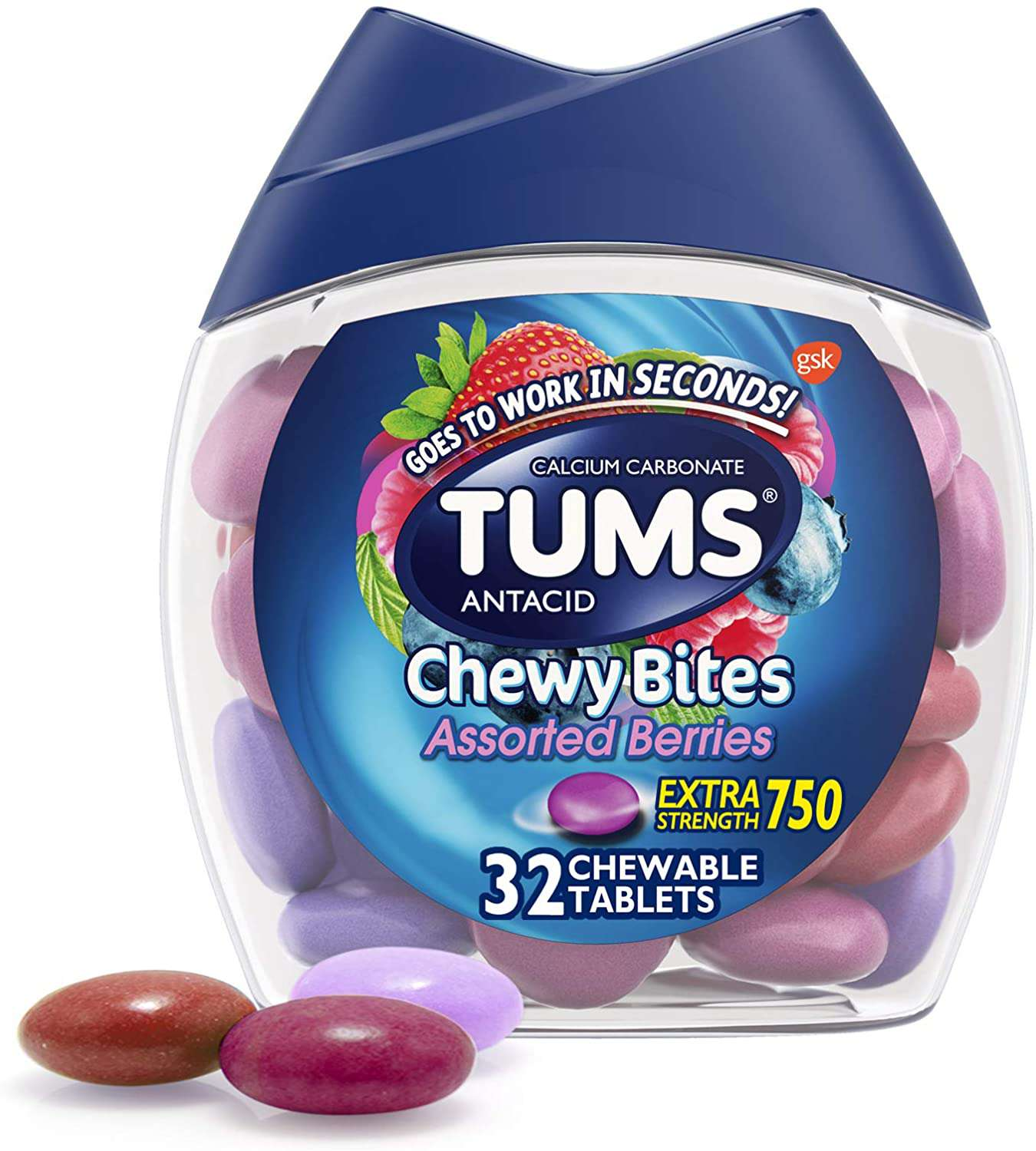 TUMS Chewy Bites Antacid Tablets