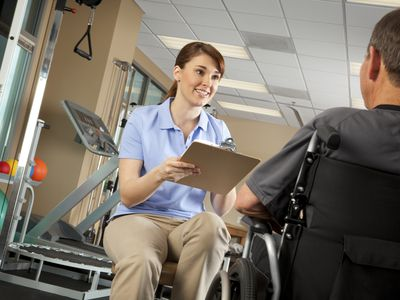 Occupational theraist and patient