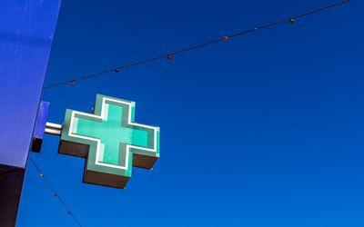 Pharmacy sign.