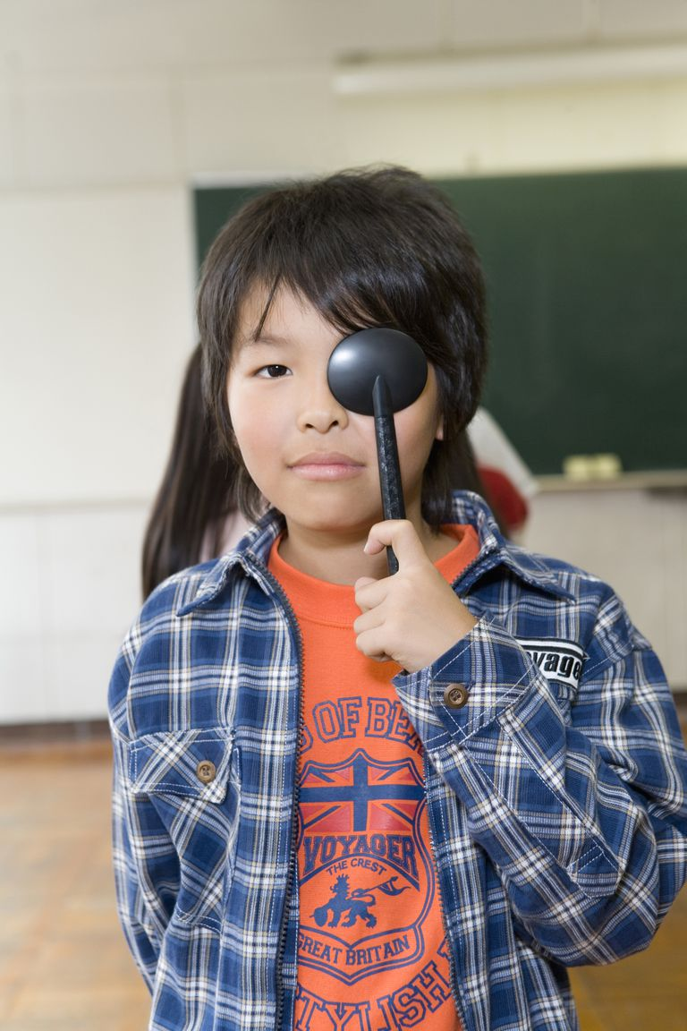 Student getting an Eye Exam