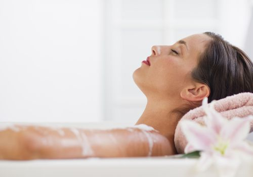 woman in spa bath