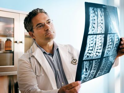 Doctor looking at mri