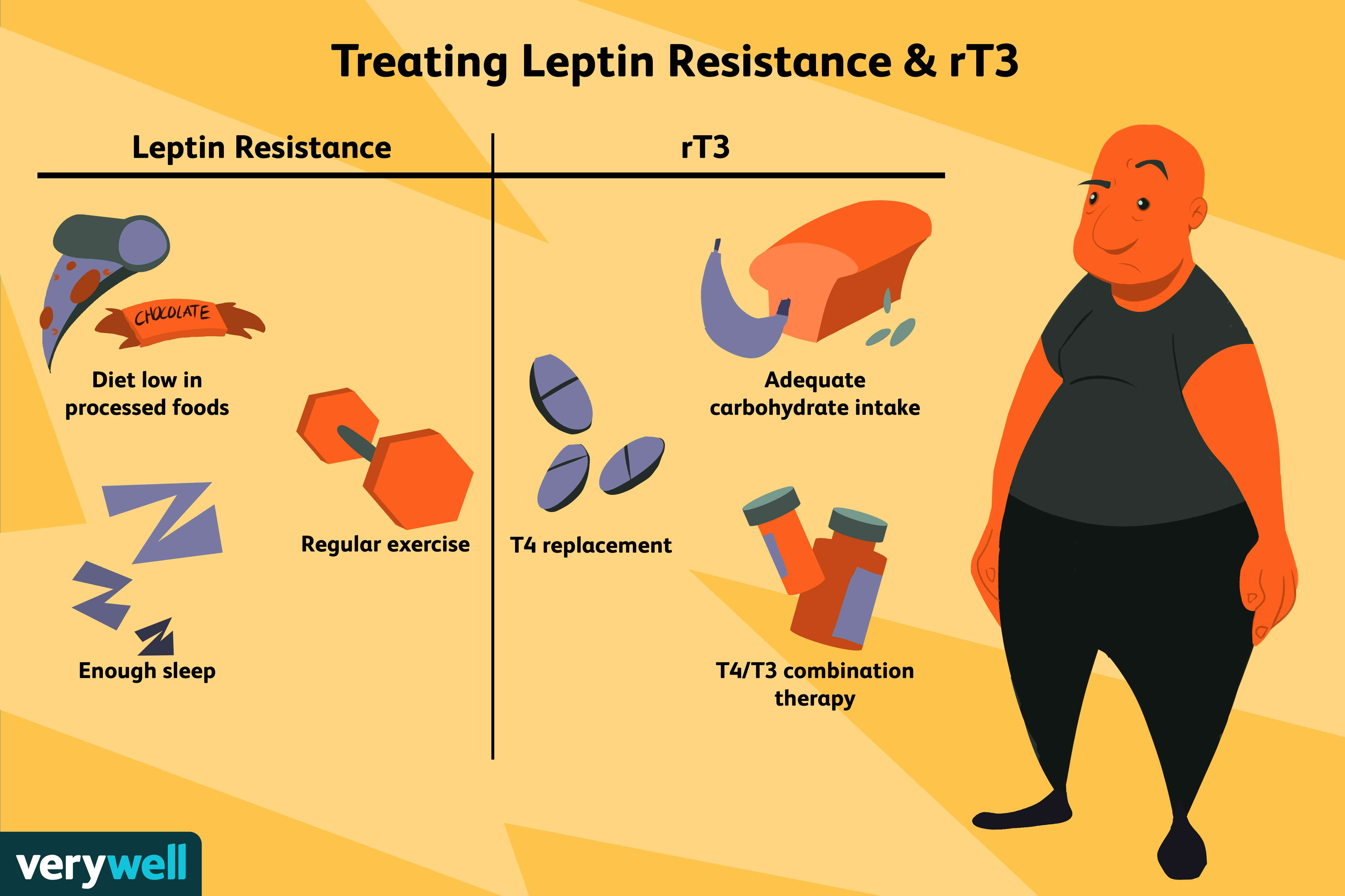 treating leptin resistance and rT3