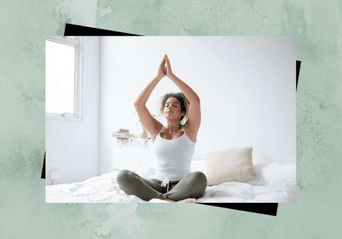 Woman practicing meditation.