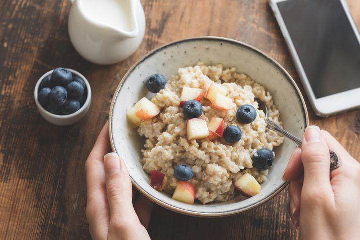 Oatmeal porridge in bowl