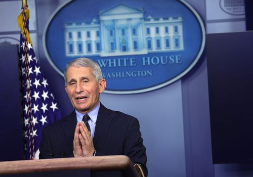 Anthony Fauci at Jan. 21 White House press briefing