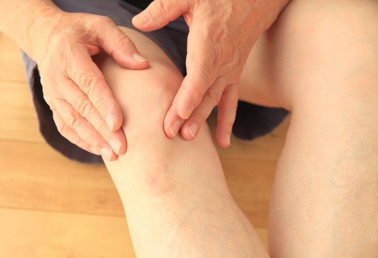 Closeup of a man's knee cap (patella)
