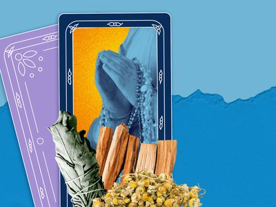 Latinx heritage month prayers cards and herbs.