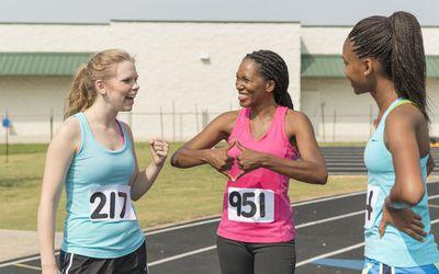 deaf female runner