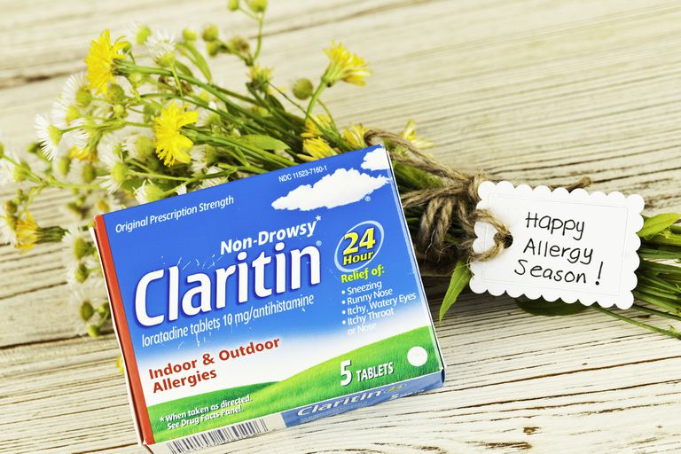 Claritin and a bunch of flowers