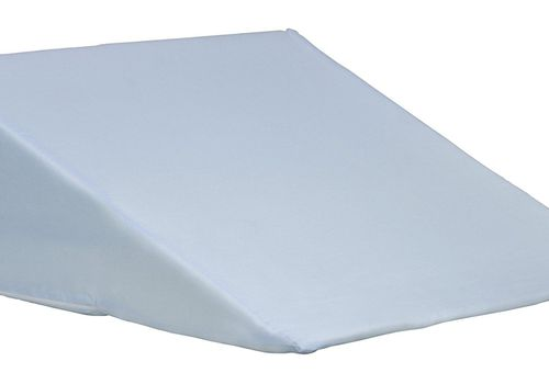 White wedge pillow on a white background.