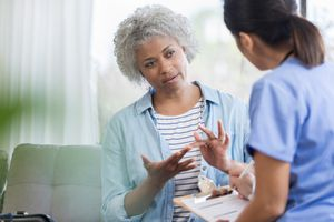 Long-term care check-in with doctor after colorectal surgery