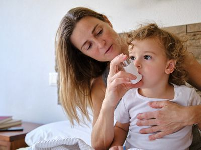 Infant with asthma attack