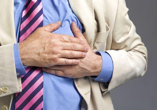 Senior Man Having Heart Attack