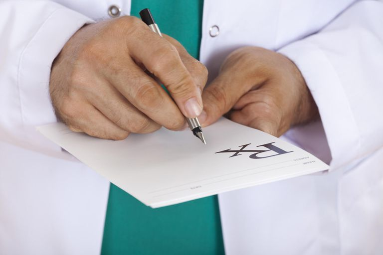 Doctor with prescription pad