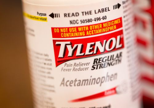 Bottle of acetaminophen