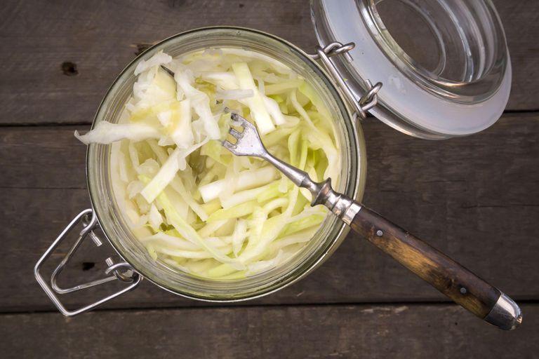 Homemade fermented sauerkraut