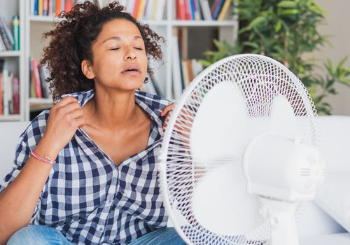 black woman overheating due to lack of sweating