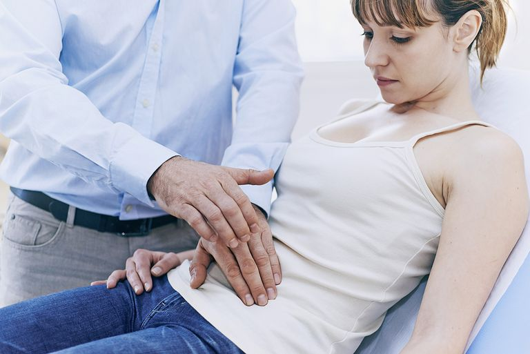 Doctor and Patient, Abdomen Palpation