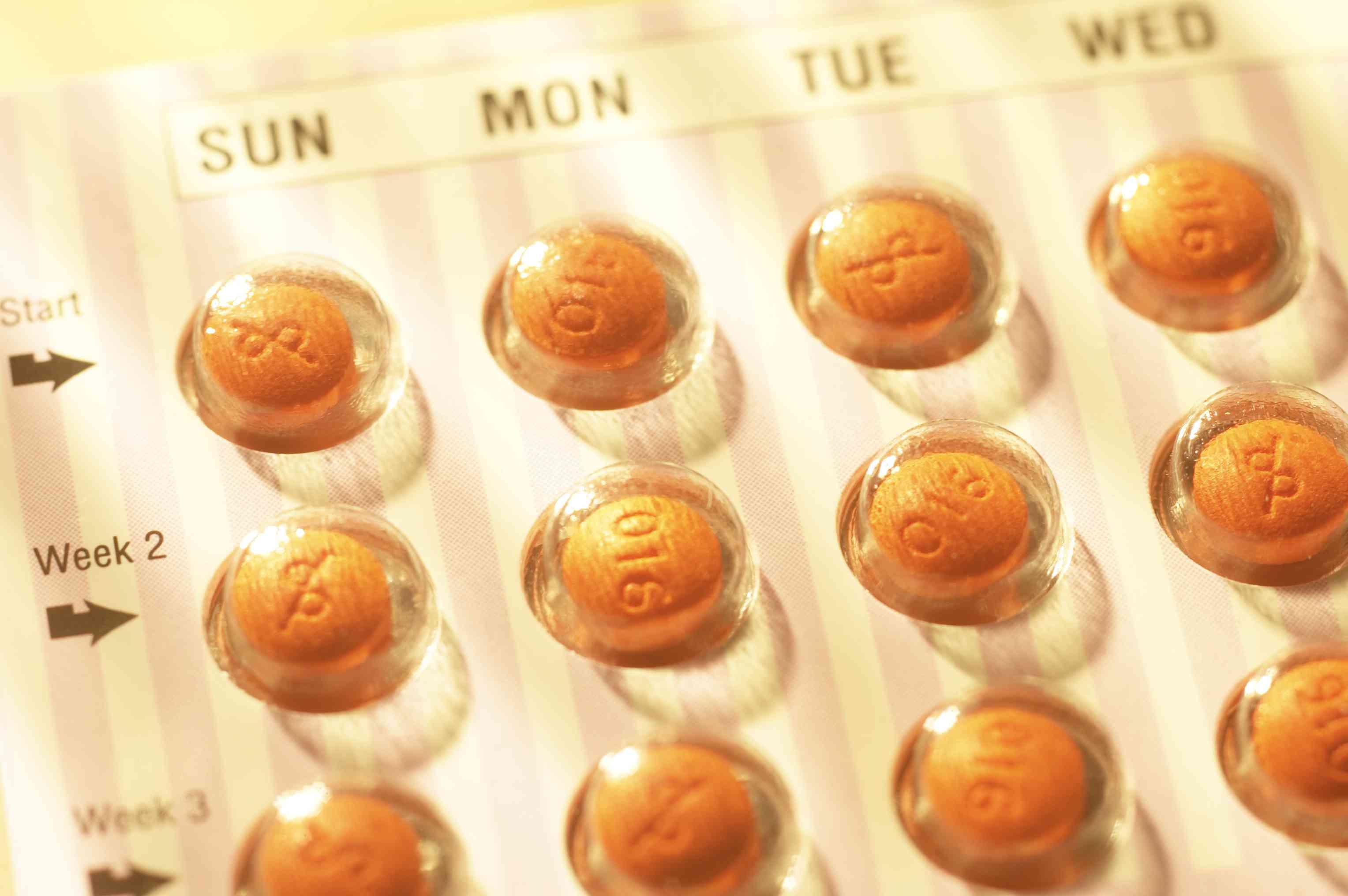 Birth Control Pills packet