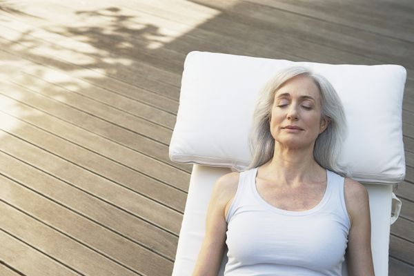 Guided sleep meditation can help you to relax.